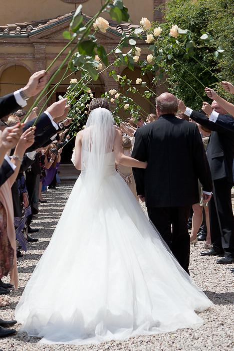 Bruden og hennes far