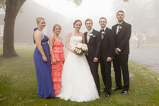 Brudeparet og deres forlovere