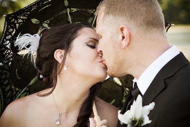 Det ble mange kysser i løpet av fotograferingen