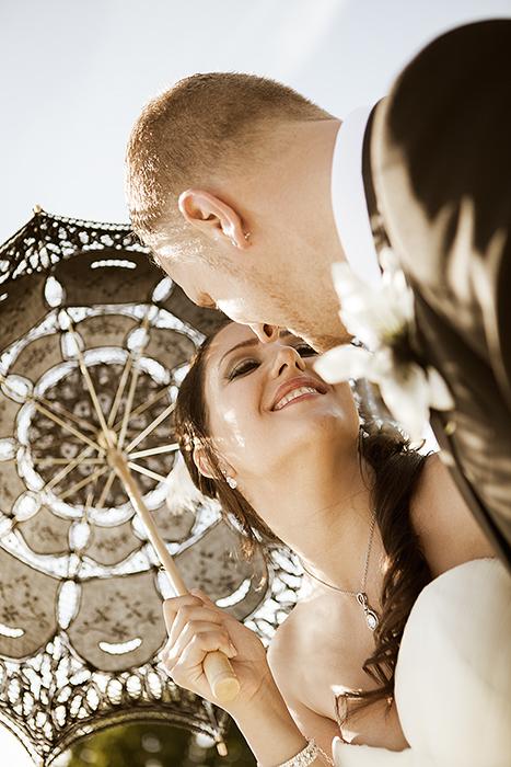 Et lykkelig brudepar