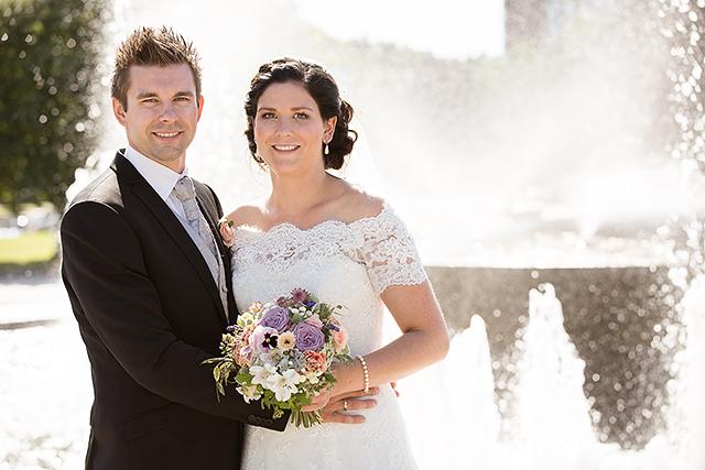 Strålende sol er fint når det er bryllup, men vanskelig når man skal fotografere