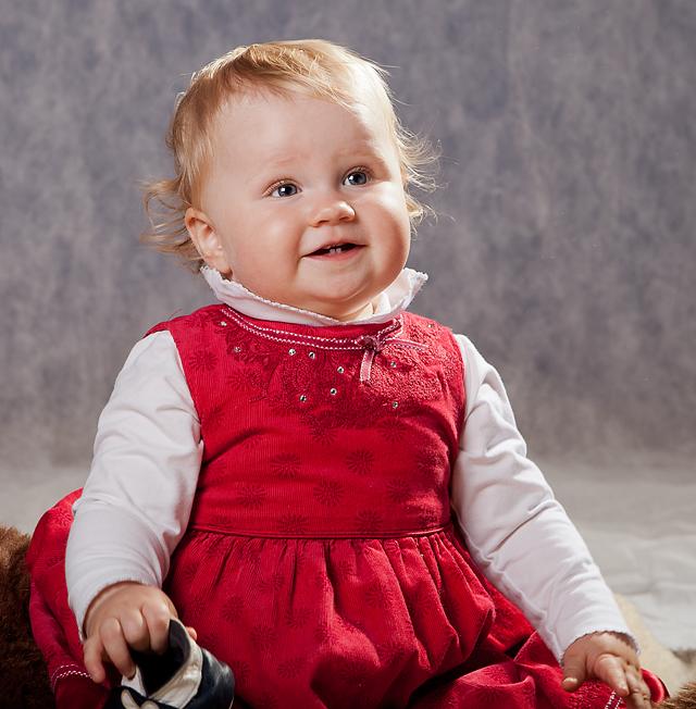 Det var ikke så enkelt å få Josefine til å sitte i ro lenge nok til å fokusere...