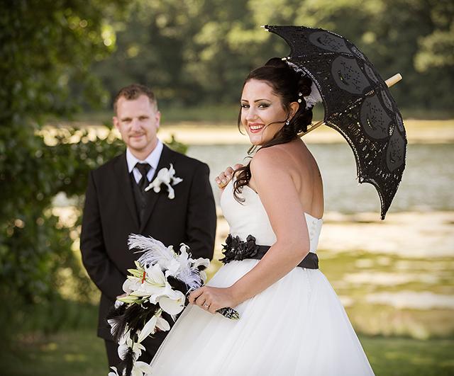 Bruden er vanligvis i fokus på sin bryllupsdag