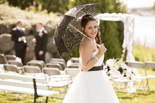 Bruden foran seremoniplassen